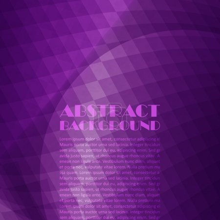 Illustration for Purple background - Royalty Free Image