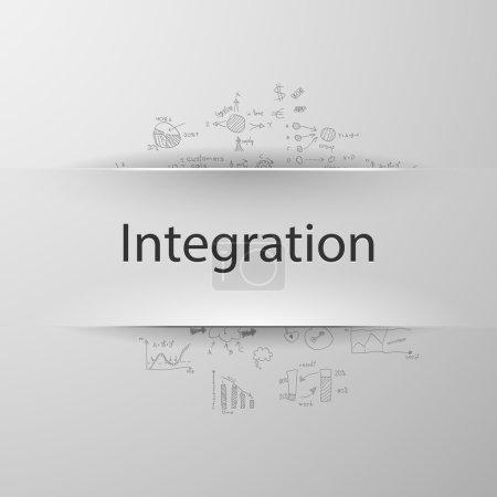 Illustration for Integration concept - Royalty Free Image