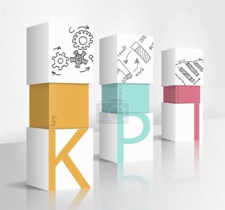 Illustration for 3d illustration concept: KPI - Royalty Free Image