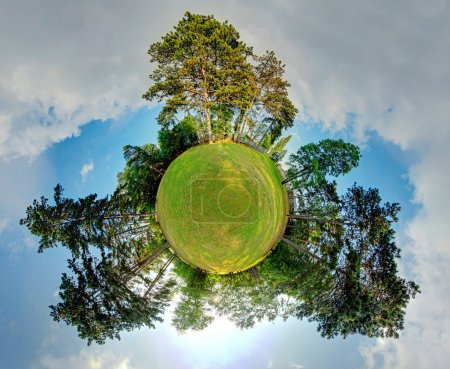 Photo for Little planet - Globe at summer time - 360 degrees panorama - Royalty Free Image