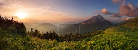 Photo for Roszutec peak in sunset - Slovakia mountain Fatra - Royalty Free Image