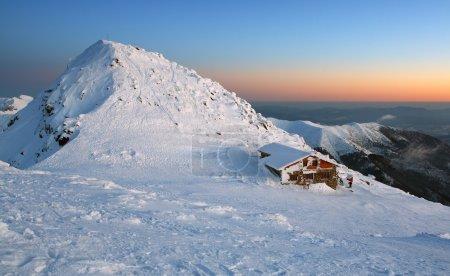 Sunset in mountains Low Tatras - Slovakia Name of peak is Chopok