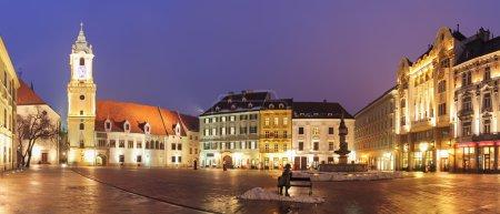 Bratislava Main Square at night - Slovakia