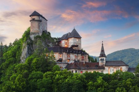 Beautiful Slovakia castle at sunset - Oravsky hrad