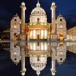 Vienna at night - St. Charles's Church - Austria...