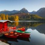 Mountain Lake in Slovakia Tatra - Strbske Pleso...