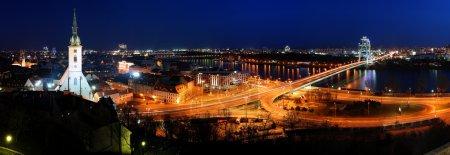 Bratislava cityspace - panorama from castle - Slovakia