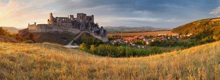 Slovakia Castle Beckov - panorama