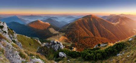 Autumn Slovakia mountain panorama