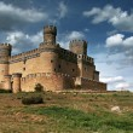 Manzanares el Real Castle (Spain), build in the 15...