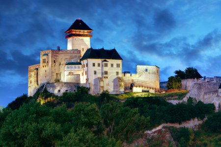 Slovakia Castle at night - Trencin