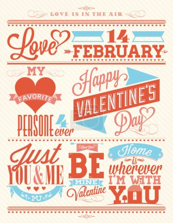 Photo for Happy Valentine's Day Hand Lettering - Typographical Background - Royalty Free Image