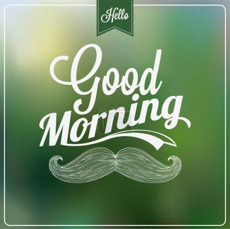 Photo pour Fond typographique de bon matin - image libre de droit