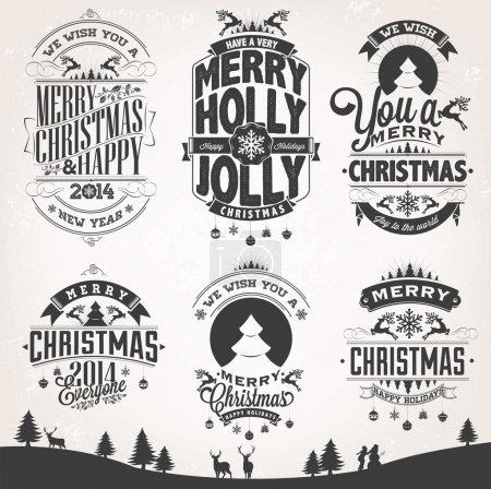 Photo for New Year Retro Icons, Elements And Illustration Set - Royalty Free Image
