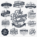 Set of Vintage Premium Quality Stickers And Elemen...