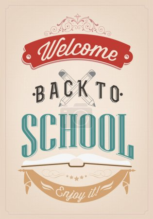 Back To School Typography Background