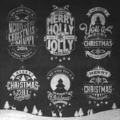 Merry Christmas And Happy New Year Calligraphic Background