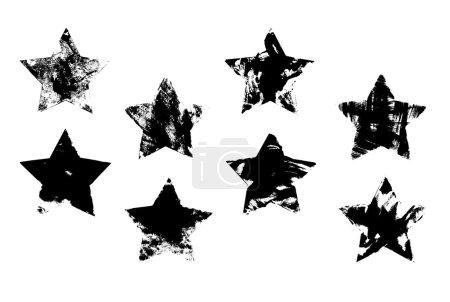 Illustration for Set of grunge stars - Royalty Free Image