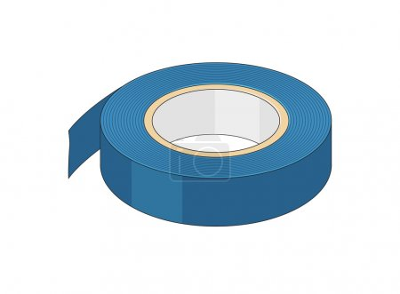 Drawing on an isolated insulating tape...