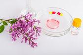 Přísady v kosmetických prostředcích. zařízení laboratorní trubky a Petriho misek