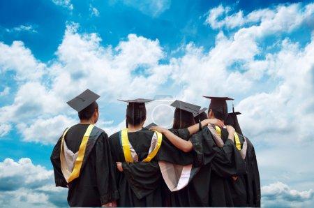 back of chinese graduates
