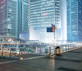 the night view of the lujiazui financial centre