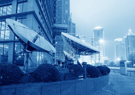 Arrière-plan de nuit ville moderne Shanghai Lujiazui Finance & Trade Zone