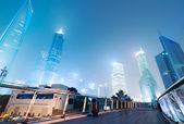 Beautiful Shanghai Pudong skyline at dusk in Shanghai, China