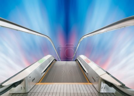Foto de Escalera al cielo, paisaje urbano fantasía, expresión abstracta - Imagen libre de derechos
