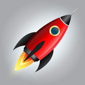 Raketové hvězda 3d vektorové styl