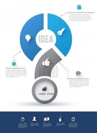 Concepts commerciaux vectoriels avec icônes .