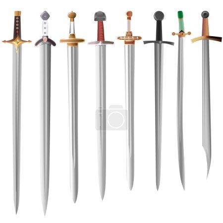 Vector illustration set of swords