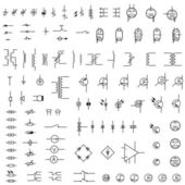 Set of icons of electronics