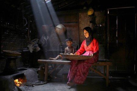 Photo pour Quelques activités des villageois - image libre de droit