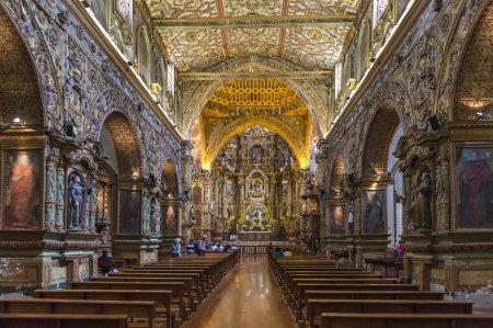 Cathedral interior, Quito Ecuador.