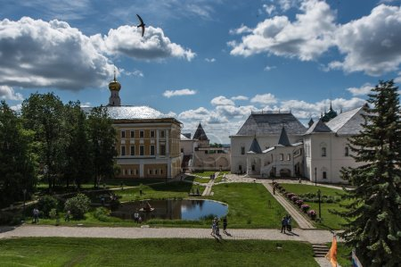 View of kremlin in Rostov town, Russia