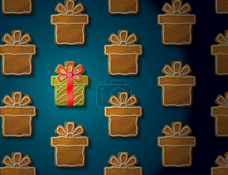 Concept with group of holiday cookies. Qualitative...