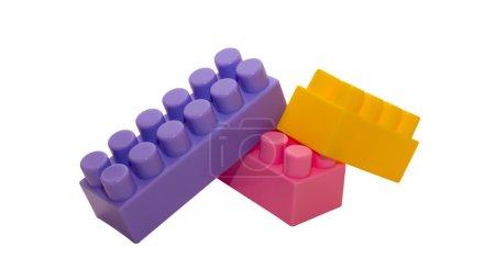 Foto de A tres cuadras del diseñador de los niños. quien juega con ellos en el futuro para construir un nuevo mundo! - Imagen libre de derechos