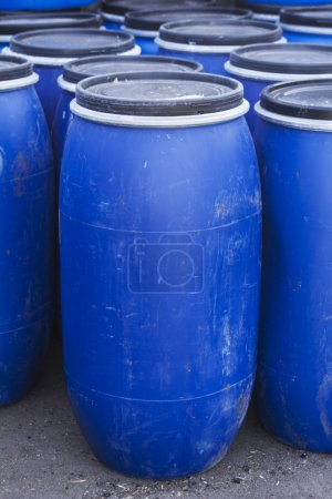 Big old plastic barrels