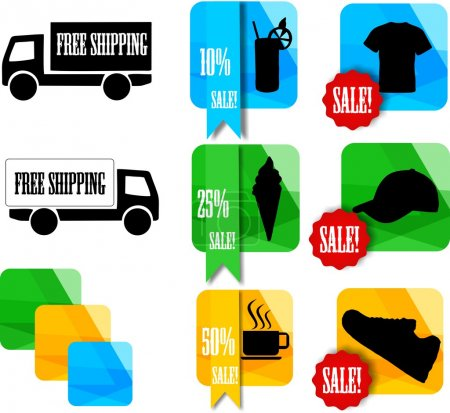 Illustration pour Ensemble d'icônes pour boutique en ligne - image libre de droit
