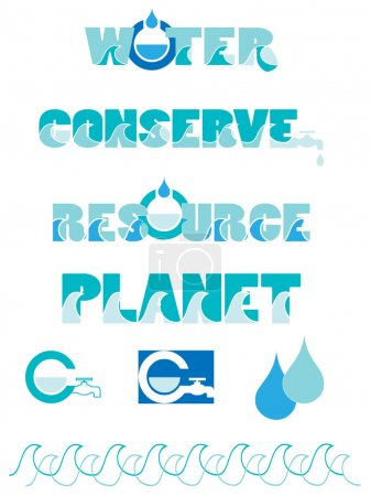 Water conservation graphics...