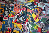 A collage made of pin up magazine covers