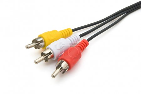 Audio & Video cables with clipping path