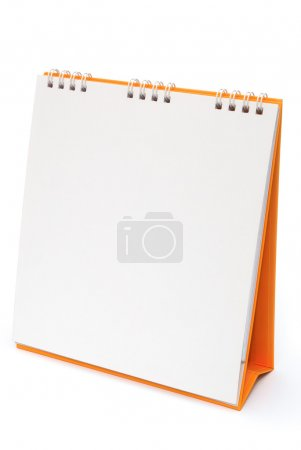 blank calendar isolated on white with clipping path