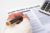 Vyplnění formulář žádosti pracovního úrazu