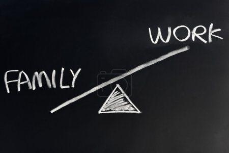 Balance of family against work