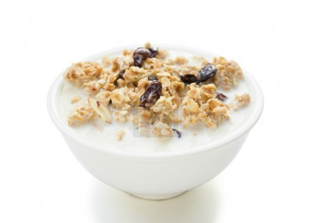 Delicious and healthy wholegrain muesli with clipping path