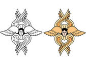 Seraphim outline and color vector illustration