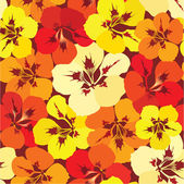 Seamless pattern background with yellow red and orange flowers