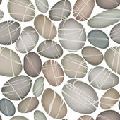 pebbly stones of various shapes and colors seamless vector background